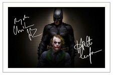 CHRISTIAN BALE & HEATH LEDGER BATMAN THE DARK KNIGHT SIGNED PHOTO PRINT
