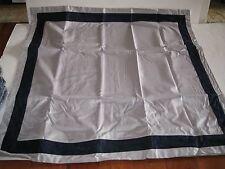 Tommy Hilfiger Easton Gray and Dark Navy Blue Euro European Pillow Sham New