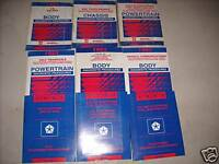 1993 Chrysler Concorde Repair Shop Service Manual Set