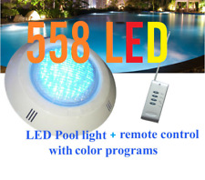 New 558 LED Pool Lights + Remote Control + Color program With Free Connector