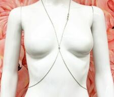 Gold Festival Body Chain Silver Thin Body Harness Gold Crystal Jewellery Chains