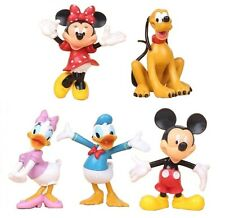 RED Minnie Mickey Mouse Playset 5 Figure Cake Topper * USA SELLER* Toy Doll Set