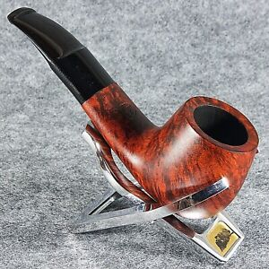EXCLUSIVE HAND MADE - SMOOTH BRIAR wood smoking pipe teak * MT OMEGA * _