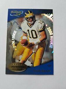 Tom Brady Rookie Card RC 2000 Quantum Leaf #343