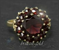 Vintage Granat Damen Ring aus 333 Gold, mit 8,3ct, um 1950 Gelbgold Cocktialring