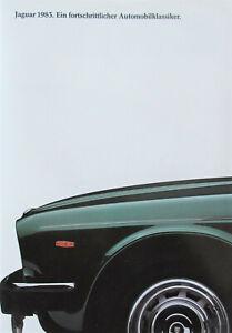 Jaguar 1983. Ein fortschrittlicher Automobilklassiker Prospekt XJ und XJS