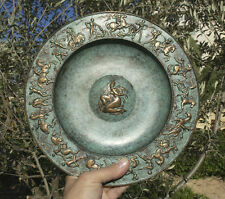 Ancient Greece, Amazons Myth, Trojan war, dish 280mm bronze
