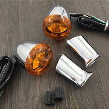 orange Rear Turn Signal Light + bracket For Harley XL883 XL1200 Sportster 92-16