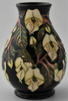 Attractive Moorcroft Pottery Mountain Gold Vase Designed By Sian Leeper
