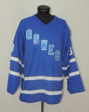 VTG Oswego NY New York Hockey Jersey Canada LG Athletic Knit AK Bednarz 39 Real