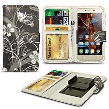 Für Oppo Spiegel 3-Bedruckt Design PU Leder Wallet Case Cover