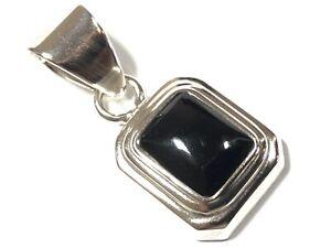 Beautiful Ladies Sterling Silver Black Onyx Necklace Pendant - Silpada