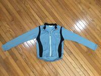 Pearl Izumi Women's Gray / Black Cycling Jersey Jacket Full Zip Size M