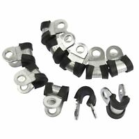 """Brake Pipe Clips Rubber Lined P Clips 3/16"""" lines Pack of 10 FL28"""