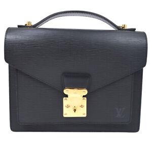 LOUIS VUITTON MONCEAU 28 2WAY HAND BAG SATCHEL SR0013 BLACK EPI M52122 91176