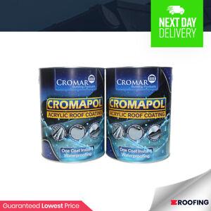 2 x Cromapol 5KG   Acrylic Roof Coat   Roof Paint Sealant   Waterproof   10kg
