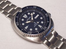 SEIKO PROSPEX TURTLE DARK BLUE 200M DIVER AUTOMATIC ON BRACELET, DAY-DATE