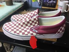 Vans Classic Slip-On (Checkerboard) Dry Rose/White Size US 13 Men VN0A38F7U7A