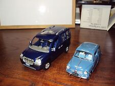2 CONTRASTING FIAT 1:24 SCALE MODELS 1960 600D 2010 DOBLO  VEHICLES 50YRS APART