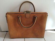 superbe sac a main CUIR  / sacoche / cartable / serviette vintage an 50 60 70
