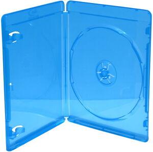 50 Blu-ray Hüllen 1er Box 11 mm für je 1 BD / CD / DVD blau