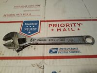 """Vtg Blue Point Tools 8"""" Long Adjustable Open End Wrench No Part # Kenosha Wi USA"""