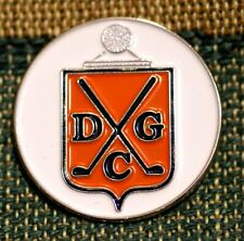 "Rare_ Limited Edition _ Deepdale Golf Club  1"" Gold Plated Golf Ball Marker"