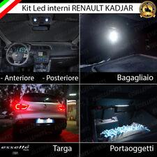 KIT LED INTERNI ABITACOLO RENAULT KADJAR COMPLETO + LUCI TARGA LED 6000K CANBUS
