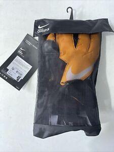 Nike GK Grip3 Goalkeeper Gloves Size 11 BNWT Goalie Football  RRP £44.99 BLK/ORG