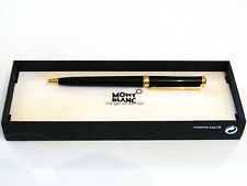 MONTBLANC NOBLESSE OBLIGE BALLPOINT PEN IN BLACK LACQUER WITH GOLD TRIM -MINT