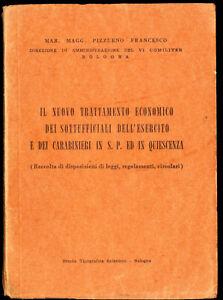 NUOVO TRATTAMENTO ECONOMICO SOTTUFFICIALI ESERCITO CARABINIERI-OFFICERS Laws 956