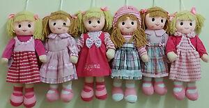 Personalised Rag Doll 50cm pink Christening Baptism Christmas Gift Birthday Gift