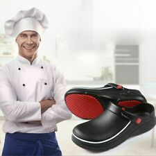 Mens Chef Shoes in Kitchen Nonslip Safety Shoes Oil & Water Proof For Cook Shoes