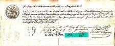 Billet a Ordre bon au porteur manuscrit timbre royal sec& humide 1851 lot 18