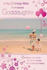 A Big Wish For A Special Goddaughter Beach & Balloon Design Happy Birthday Card