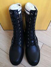 FENDI Rockoko Combat Sock Ankle Boots EU 36 UK 3 Made in Italy