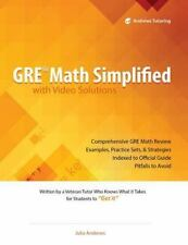 GRE Math Simplified with Video Solutions by Julia Andrews (2013, Paperback)
