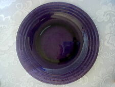 Collectible Vintage Amethyst / Purple Glass Rimmed Plate - Made in France