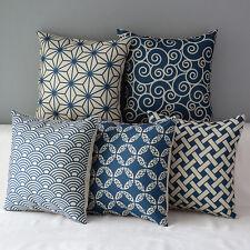 "Geometry Bamboo Cotton Pillow Case Waist Throw Cushion Cover Home Sofa Decor 17"""
