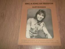 "CLIFF RICHARD ""Sing a song of freedom"" Original Sheet Music"