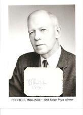 Robert S Mulliken Autograph Nobel Prize Chemistry Molecular Orbital Theory #2