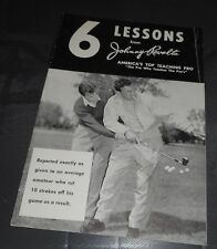 6 Lessons From Johnny Revolta Golf Instructional Booklet