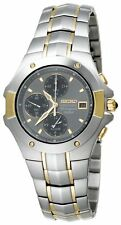 Seiko Men's SNA548 Dress Coutura Alarm Chronograph 100M Stainless Steel Watch