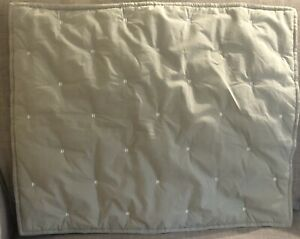 1 West Elm Organic Cotton Percale Quilted Stitch Standard Pillow Sham Gray