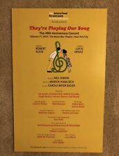 They're Playing Our Song- Benefit Window Card! Lucie Arnaz/Robert Klein.