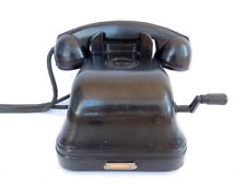 Rare 1930's Vintage Antique Soviet USSR Old Desk Black Phone Telephone Bakelite