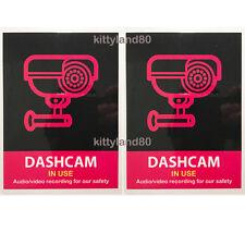 2 x Uber Lyft Headrest Decal Dashcam In Use Sign Rideshare Display