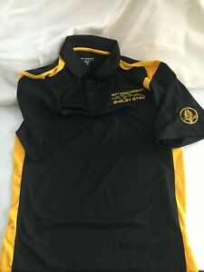 Shelby Mustang Official GT40 50th Anniversary Black & Yellow Polo Size Small NEW