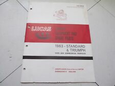 1963 Lucas Catalog Standard & Triumph Electrical, Lenses, Injection, OD 26 Pages