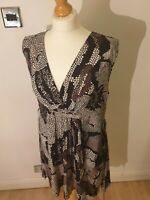 Masai Tie Waist Patterned Tunic Top Or Dress Size 12